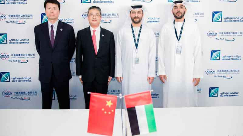 Abu Dhabi Terminals and COSCO signs an MOU