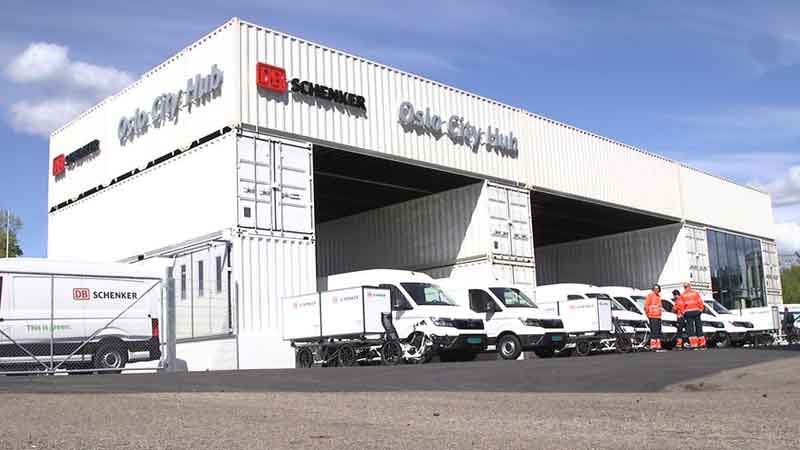 DB Schenker opens first low-carbon distribution terminal in Norway