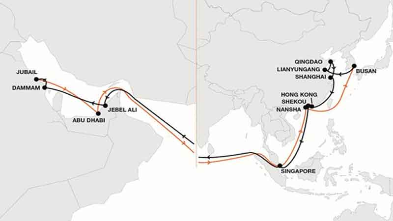 Hapag-Lloyd launches the new Asia – Gulf service