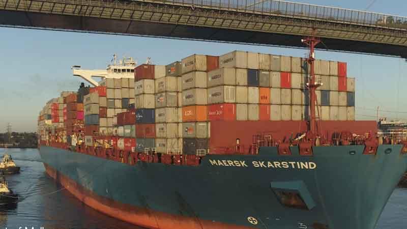 The Port of Melbourne welcomes Maersk Skarstind