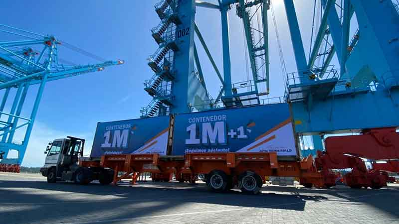 Moin Container Terminal reaches 1 million TEUs