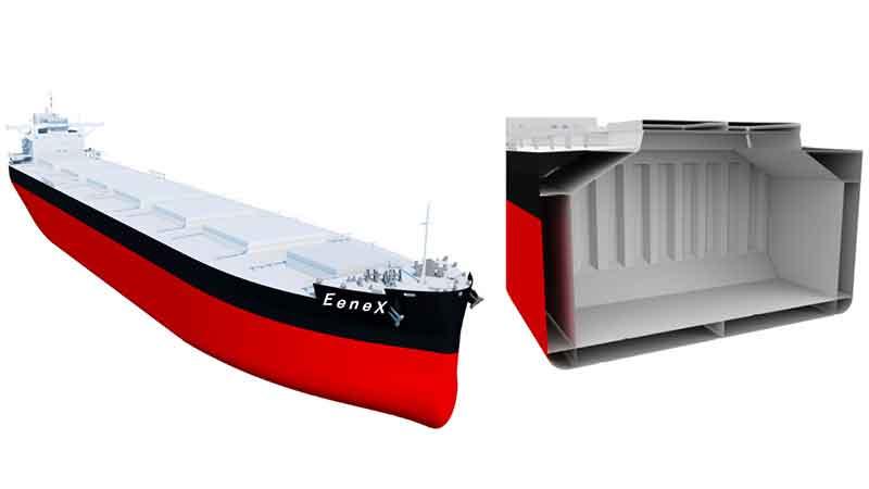 MOL orders 2 next-generation 'EeneX' coal carriers