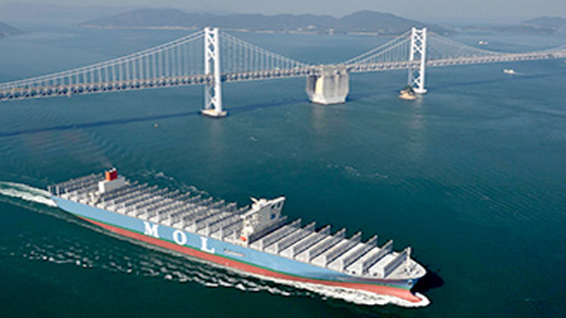 MOL takes delivery of 20,000 TEU box ship